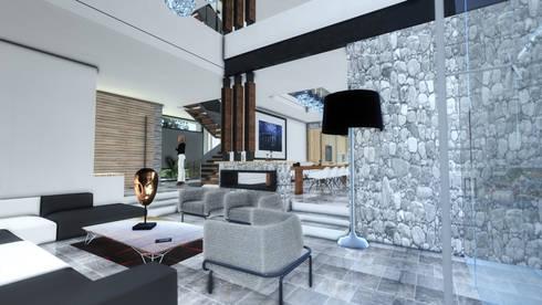SALA: Salas de estilo moderno por ArqCubo