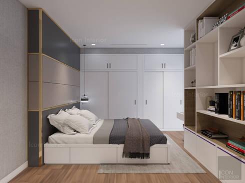 Phong cách hiện đại tại căn hộ Vinhomes Central Park đơn giản mà sang trọng:  Phòng ngủ by ICON INTERIOR