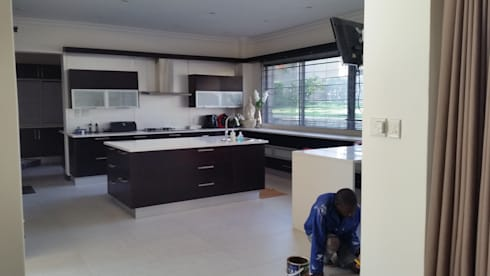 Kitchen In-progress image: modern Kitchen by Stacy Steel Works and Renovations