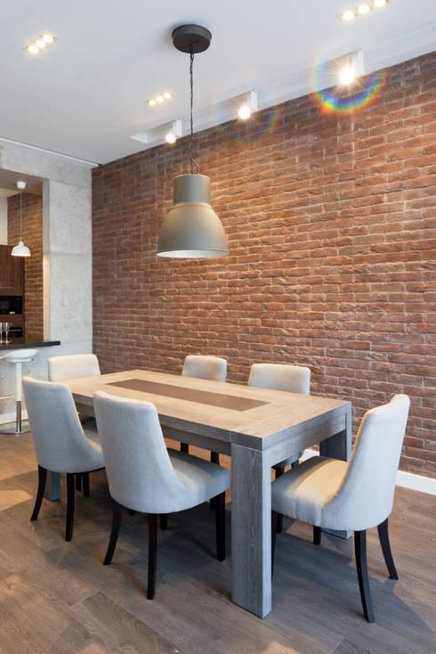 modern Dining room by Архитектурная мастерская ПРОЕКТУС