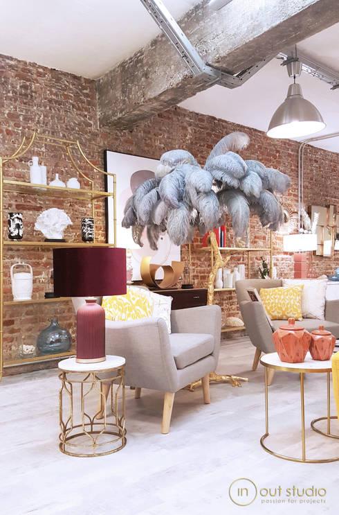 The Loft: Salones de estilo  de Muebles Marieta