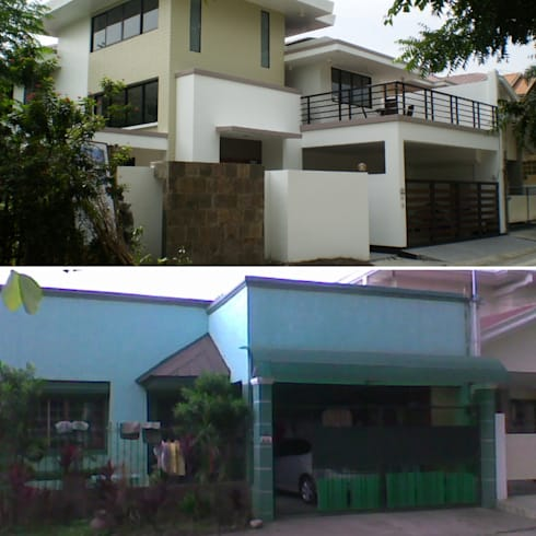 After Photo against Before Photo of Reconstructed HC-Residence:  Single family home by Ar. Kristoffer D. Aquino