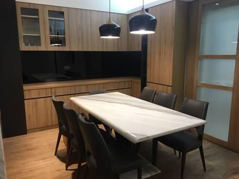 五股中興路設計案 整體穿透 提升豪華價值:  餐廳 by 捷士空間設計