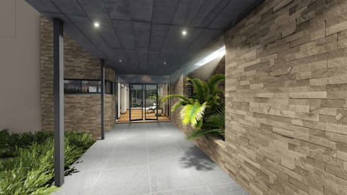 Mooikloof House:  Patios by du Toit Arch