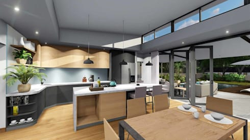 Mooikloof House:  Built-in kitchens by du Toit Arch