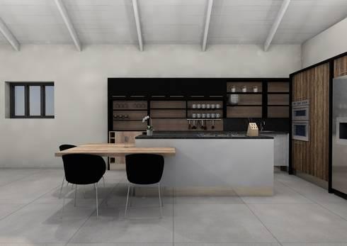Kitchen:   by LINE Creative Interiors