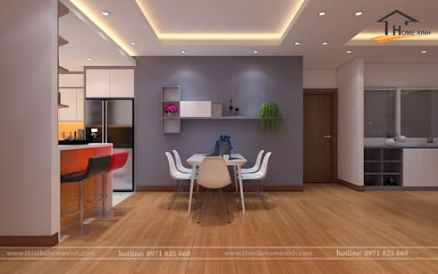 Built-in kitchens by THIẾT KẾ HOMEXINH