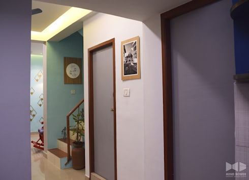 N duplex:  Stairs by Mind bower Interior design studio