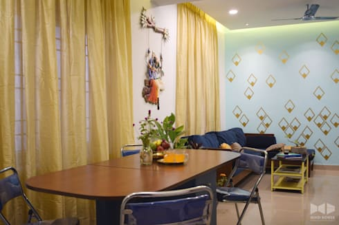N duplex: minimalistic Dining room by Mind bower Interior design studio