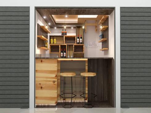 Mini Bodegon1: Espacios comerciales de estilo  por Pinto Arquitectura