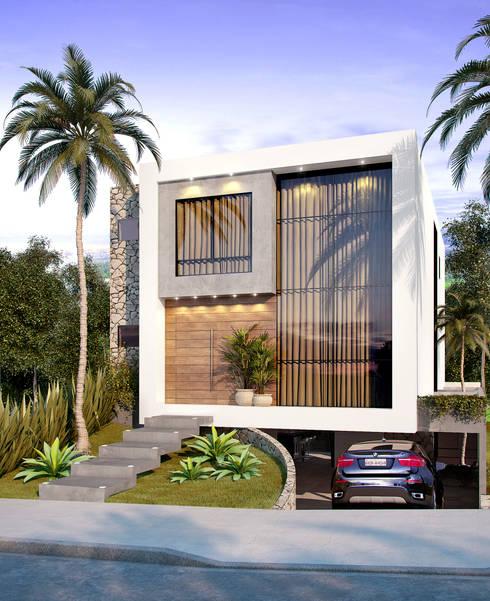 Vista Externa: Casas  por Paulo Stocco Arquiteto