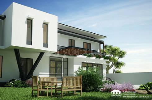 so sánh biệt mẫu thư tân cổ và mẫu biệt thự phố 2 tầng hiện đại:  Biệt thự by Vĩnh Thịnh