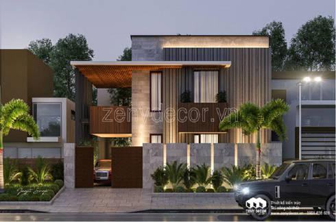 so sánh biệt mẫu thư tân cổ và mẫu biệt thự phố 2 tầng hiện đại:   by Vĩnh Thịnh