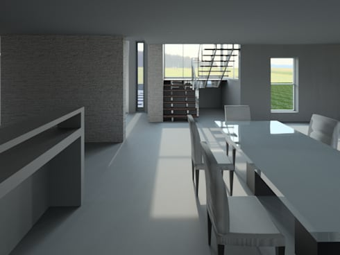 House Mthombeni: classic Dining room by Müller Architecture SA