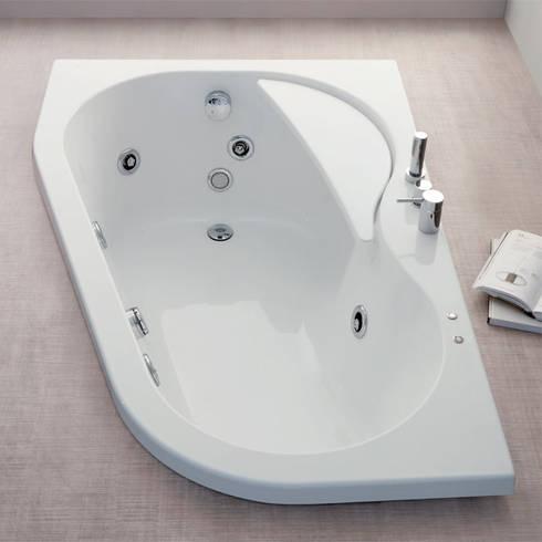 Vasca da bagno angolare serie Wap 150x100xh55 por Jo-Bagno.it | homify