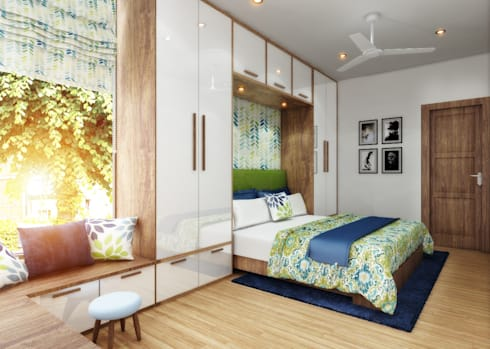The master bedroom:   by Ideagully Products Innovations Private Limited