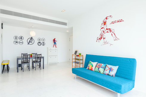 Interior Photography - Shiya Studio: minimalistic Living room by Shiya Studio Singapore