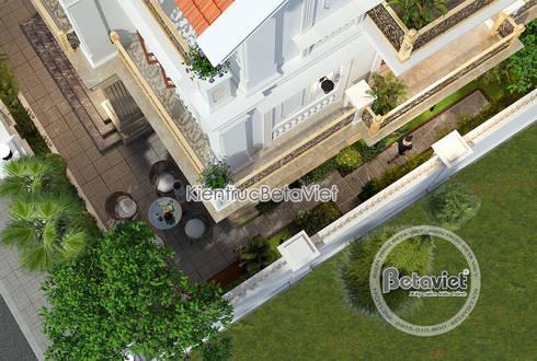 Phối cảnh mẫu thiết kế biệt thự 3 tầng Tân cổ điển kiểu Pháp (CĐT: Ông Khải - Bắc Ninh) KT17107:   by Công Ty CP Kiến Trúc và Xây Dựng Betaviet