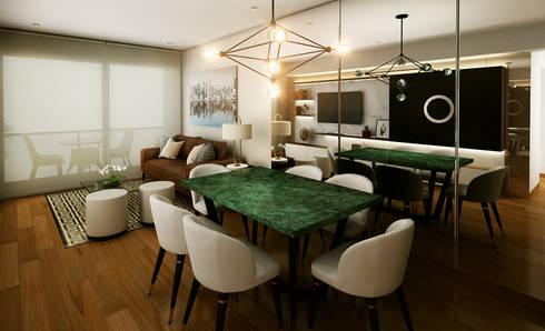 Proyecto LF: Comedores de estilo moderno por Luis Escobar Interiorismo