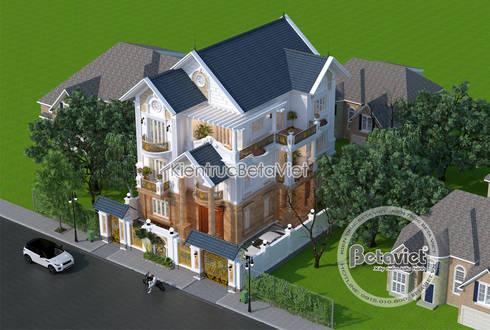 Mẫu thiết kế biệt thự 3 tầng Tân cổ điển (Ông Cường - Thái Nguyên) KT17096:   by Công Ty CP Kiến Trúc và Xây Dựng Betaviet