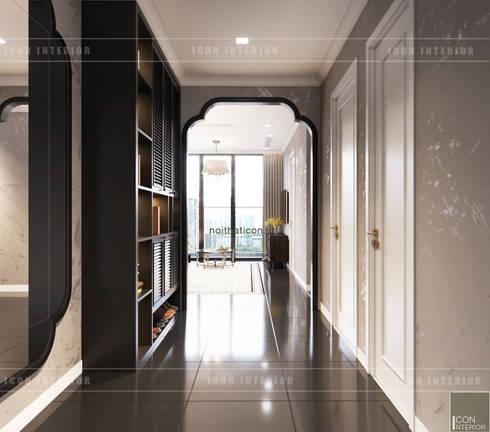 XU HƯỚNG ĐÔNG DƯƠNG ẤN TƯỢNG – Thiết kế căn hộ Vinhomes Golden River:  Cửa ra vào by ICON INTERIOR
