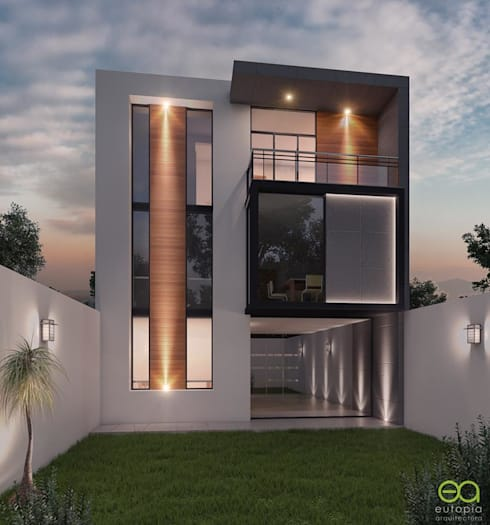 Casa PV: Casas unifamiliares de estilo  por Eutopia Arquitectura