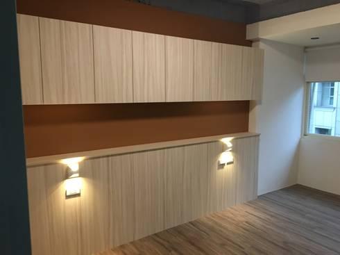 不釘天花板也能有好質感 連雲街設計案:  牆面 by 捷士空間設計