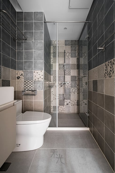 沐光‧書院造:  浴室 by 禾光室內裝修設計 ─ Her Guang Design