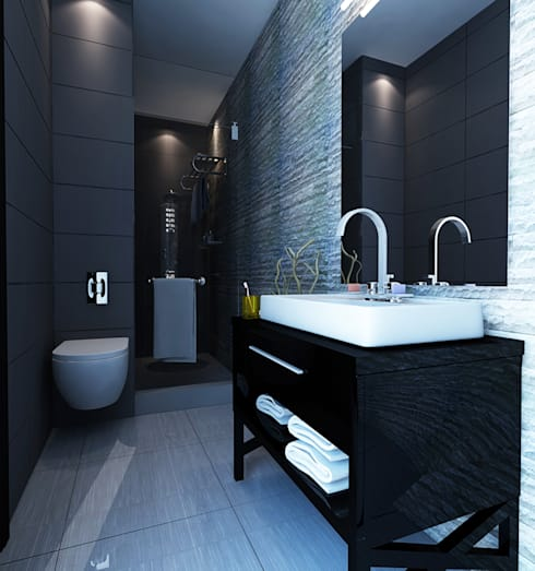 Apartment Aston Ancol :  Kamar Mandi by Elora Desain