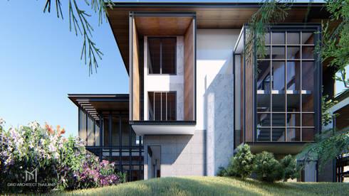 Tropical Style :  บ้านเดี่ยว by GRID ARCHITECT THAILAND