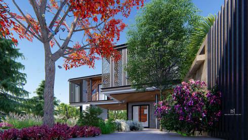 Tropical Style :  บ้านและที่อยู่อาศัย by GRID ARCHITECT THAILAND