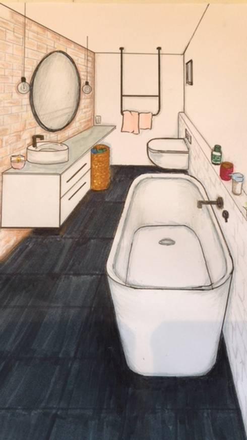Ontwerp industriële badkamer von Studio Room by Room | homify