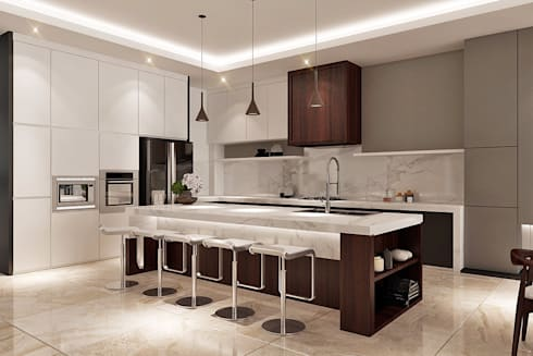 Pantry:  Dapur by Lighthouse Architect Indonesia