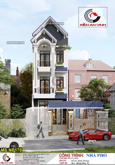 Thiết kế nhà đẹp 3 tầng mái Thái hiện đại NP170:  Nhà gia đình by Kiến An Vinh