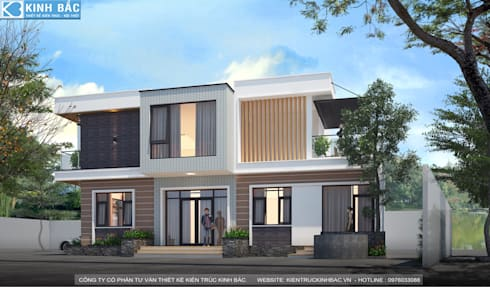 Biệt thự 2 tầng với phong cách hiện đại đẹp:  Biệt thự by Việt Architect Group