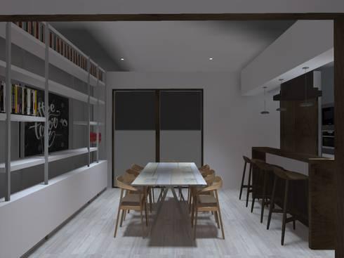 comedor: Comedores de estilo minimalista por ATELIER3