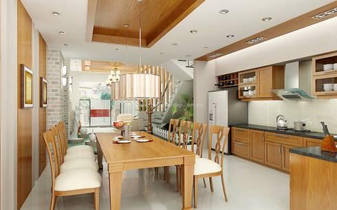 Biệt thự 2 tầng với phong cách hiện đại đẹp:   by Việt Architect Group