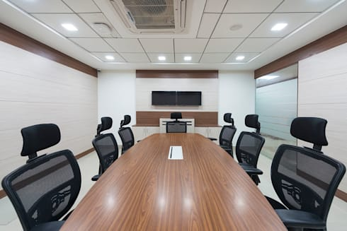 conference room:  Office spaces & stores  by Elcon Infrastructure