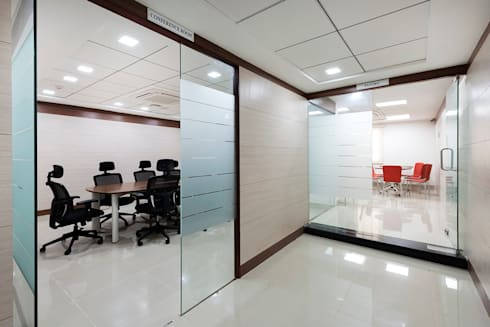 corridore:  Office spaces & stores  by Elcon Infrastructure