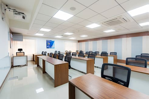 Conference Hall:  Office spaces & stores  by Elcon Infrastructure