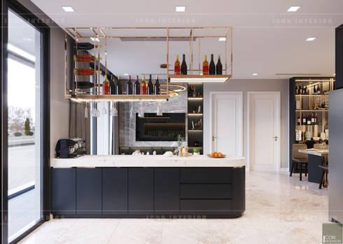 Căn hộ phong cách hiện đại: Không gian sống hoàn hảo cho gia đình bận rộn!:  Nhà bếp by ICON INTERIOR