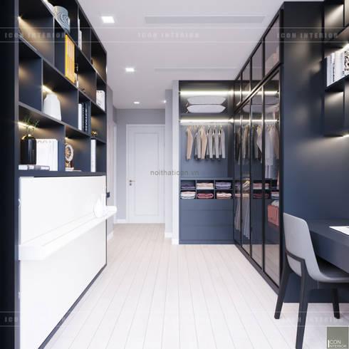 Căn hộ phong cách hiện đại: Không gian sống hoàn hảo cho gia đình bận rộn!:  Phòng thay đồ by ICON INTERIOR