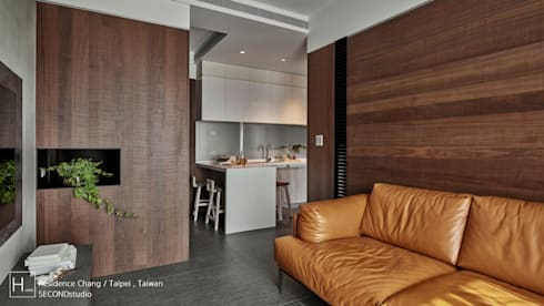 Residence Chang   /  張     宅:  客廳 by SECONDstudio