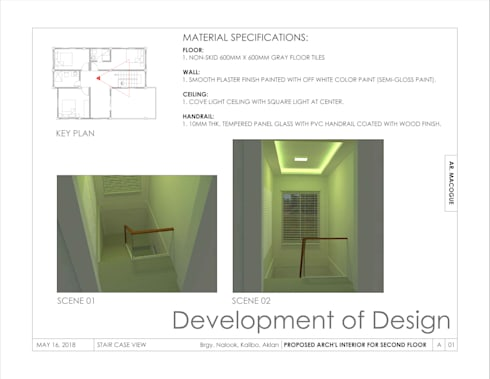 Staircase view:  Stairs by Arch't. Jan Reinhold T. Macogue (Architectural & Technical Services)