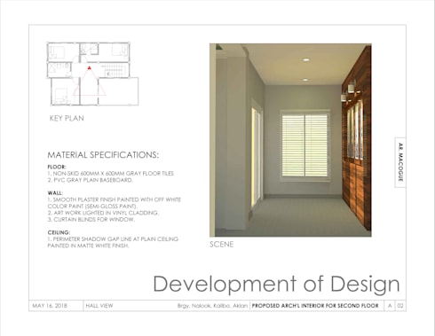 Hall view:  Corridor and hallway by Arch't. Jan Reinhold T. Macogue (Architectural & Technical Services)