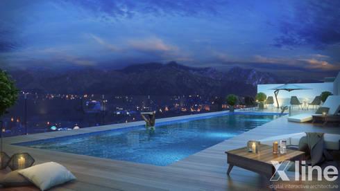 Hub 2 by Xline 3D: modern Pool by Xline 3D Digital Architecture