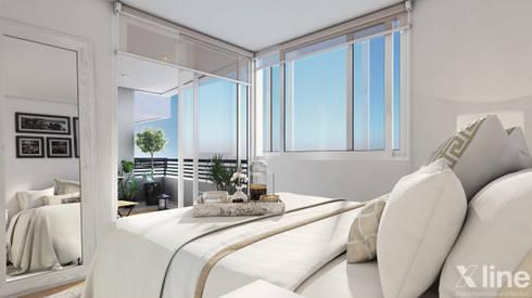 Altos de Puyai by Xline 3D: modern Bedroom by Xline 3D Digital Architecture