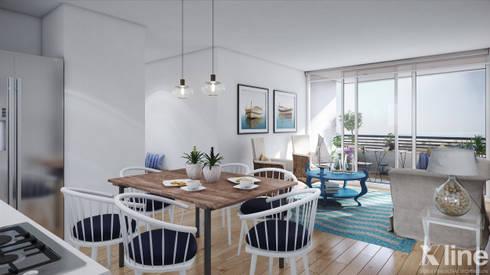 Altos de Puyai by Xline 3D: modern Dining room by Xline 3D Digital Architecture