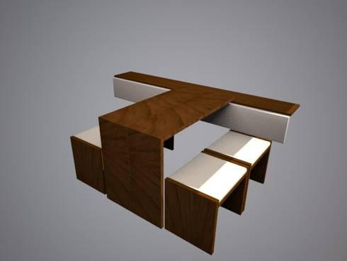 Mueble comedor, siendo usado.: Comedor de estilo  por SindiyFiorella