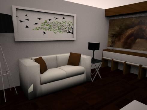 SALA: Salas / recibidores de estilo moderno por SindiyFiorella